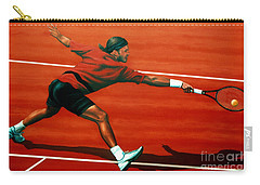Roger Federer At Roland Garros Carry-all Pouch by Paul Meijering