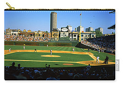 Spectators In A Stadium, Wrigley Field Carry-all Pouch by Panoramic Images