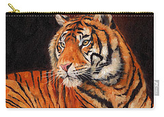 Sumatran Tiger  Carry-all Pouch by David Stribbling