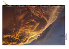 Sunset On Storm Clouds Near Mt Cook Carry-all Pouch by Ian Whitehouse