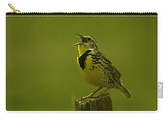 The Meadowlark Sings Carry-all Pouch by Jeff Swan