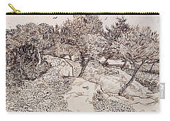 The Olive Trees Carry-all Pouch by Vincent Van Gogh