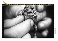 Toad In Hand Carry-all Pouch by Edward Fielding