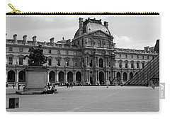 Tourists In The Courtyard Of A Museum Carry-all Pouch by Panoramic Images