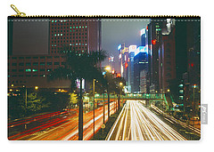 Traffic On The Road, Hong Kong, China Carry-all Pouch by Panoramic Images