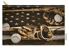 Vintage Baseball Carry-all Pouch by Dan Sproul