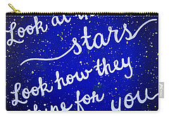 11x14 Look At The Stars Carry-all Pouch by Michelle Eshleman