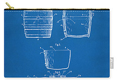 1898 Beer Keg Patent Artwork - Blueprint Carry-all Pouch by Nikki Marie Smith