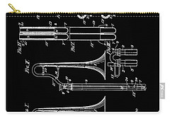 1901 Trombone Patent Carry-all Pouch by Dan Sproul