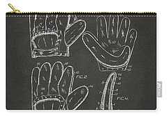 1910 Baseball Glove Patent Artwork - Gray Carry-all Pouch by Nikki Marie Smith