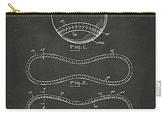 1928 Baseball Patent Artwork - Gray Carry-all Pouch by Nikki Marie Smith