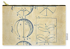 1929 Basketball Patent Artwork - Vintage Carry-all Pouch by Nikki Marie Smith