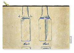 1934 Beer Bottle Patent Artwork - Vintage Carry-all Pouch by Nikki Marie Smith