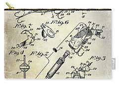 1940 Illuminated Bait Patent Drawing Carry-all Pouch by Jon Neidert
