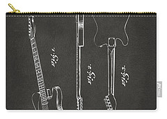 1951 Fender Electric Guitar Patent Artwork - Gray Carry-all Pouch by Nikki Marie Smith