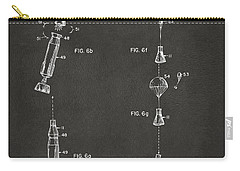 1963 Space Capsule Patent Gray Carry-all Pouch by Nikki Marie Smith