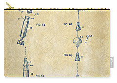 1963 Space Capsule Patent Vintage Carry-all Pouch by Nikki Marie Smith