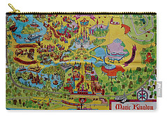 1971 Original Map Of The Magic Kingdom Carry-all Pouch by Rob Hans