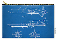 1975 Space Vehicle Patent - Blueprint Carry-all Pouch by Nikki Marie Smith