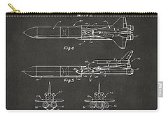 1975 Space Vehicle Patent - Gray Carry-all Pouch by Nikki Marie Smith