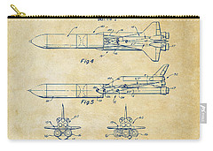 1975 Space Vehicle Patent - Vintage Carry-all Pouch by Nikki Marie Smith