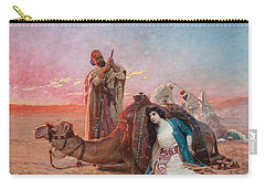 A Rest In The Desert Carry-all Pouch by Otto Pilny