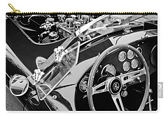 Ac Shelby Cobra Engine - Steering Wheel Carry-all Pouch by Jill Reger