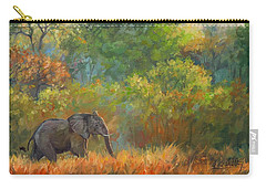 African Elephant Carry-all Pouch by David Stribbling