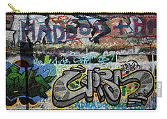 Artistic Graffiti On The U2 Wall Carry-all Pouch by Panoramic Images