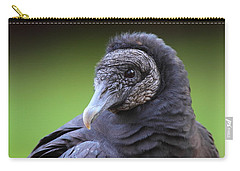 Black Vulture Portrait Carry-all Pouch by Bruce J Robinson