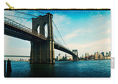 Bridge Across A River, Brooklyn Bridge Carry-all Pouch by Panoramic Images