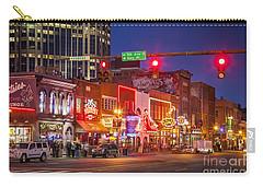 Broadway Street Nashville Carry-all Pouch by Brian Jannsen
