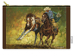 Rodeo Pickup Carry-all Pouch by Don  Langeneckert