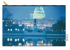 Government Building Lit Up At Night Carry-all Pouch by Panoramic Images