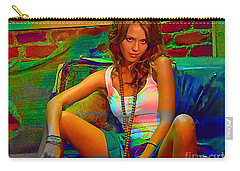 Jessica Alba Carry-all Pouch by Marvin Blaine