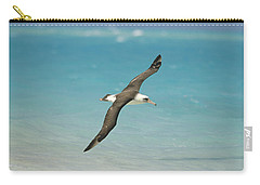 Laysan Albatross Flying Midway Atoll Carry-all Pouch by Tui De Roy