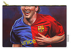 Lionel Messi  Carry-all Pouch by Paul Meijering