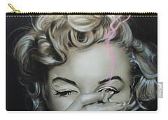 Marilyn Monroe - ' Marilyn's Crimson Haze ' Carry-all Pouch by Christian Chapman Art