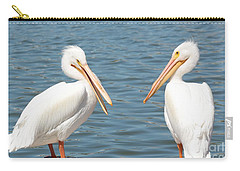 Pelican Pals Carry-all Pouch by Carol Groenen