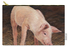 Pig Carry-all Pouch by David Stribbling