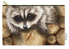 Raccoon Carry-all Pouch by Veronica Minozzi