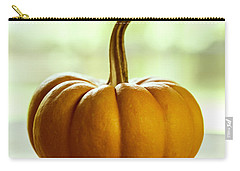 Small Orange Pumpkin Carry-all Pouch by Iris Richardson
