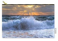 Splash Sunrise Carry-all Pouch by Debra and Dave Vanderlaan