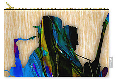 Bruce Springsteen And Clarence Clemons Carry-all Pouch by Marvin Blaine