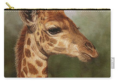 Giraffe Carry-all Pouch by David Stribbling