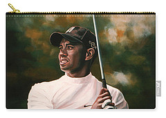Tiger Woods  Carry-all Pouch by Paul Meijering