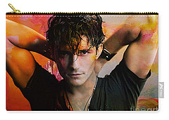 Orlando Bloom Carry-all Pouch by Marvin Blaine