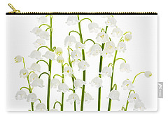 Lily-of-the-valley Flowers  Carry-all Pouch by Elena Elisseeva