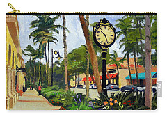 5th Avenue Naples Florida Carry-all Pouch by Christine Hopkins