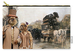 Brussels Griffon - Belgium Griffon Art Canvas Print Carry-all Pouch by Sandra Sij